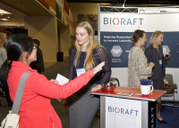 Exhibit Hall, BioRAFT booth, 2017 ABSA International Conference