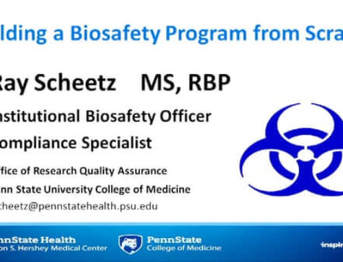 ABSA1718A – Building a User-friendly Biosafety Program from Scratch
