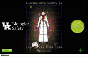 2018 Biosafety Promotional Item Award, Holley Trucks, University of Kentucky, The Hall of Horrors-Safety Video Game