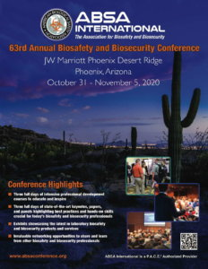 63rd Annual Biosafety and Biosecurity Conference - flyer