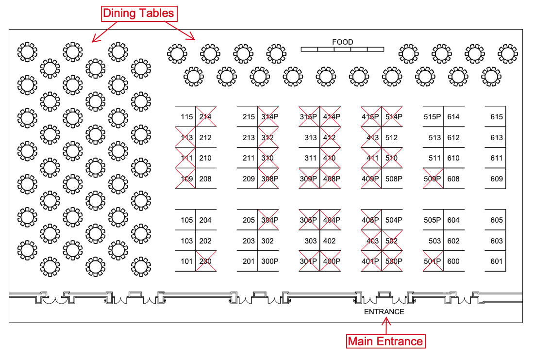 2020 Exhibit Hall Floor Plan - 64rd Annual Biosafety and Biosecurity Safety Conference
